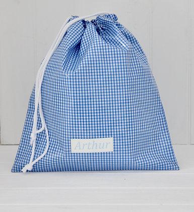 Classic Wipe Clean Gingham Drawstring Bag