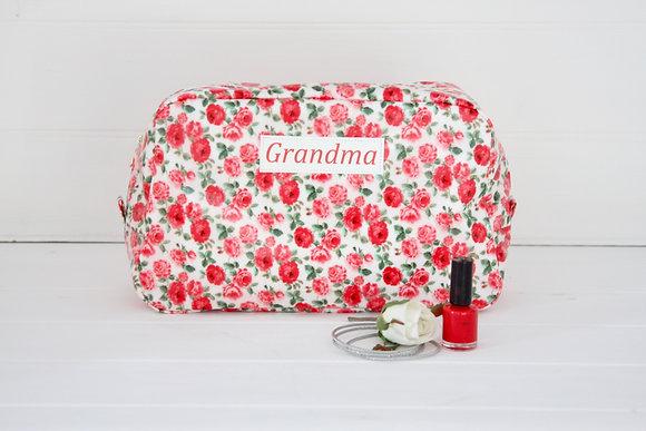 Floral Wipe Clean Washbag