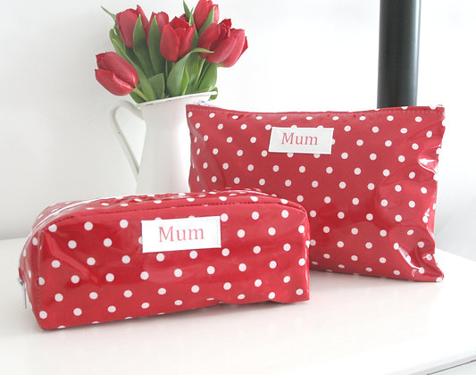 Spot Oilcloth Wash Bag & Cosmetic Bag