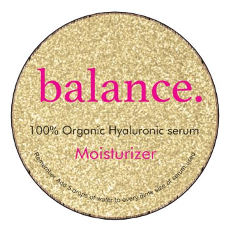 Balance moisturizer
