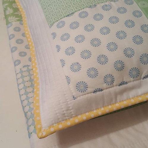 organik pamuk patchwork bebek  battaniyesi