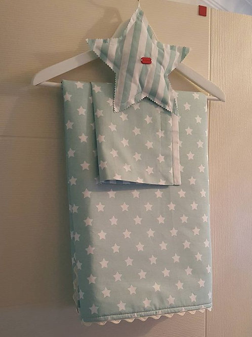 yıldız desen bebek battaniyesi