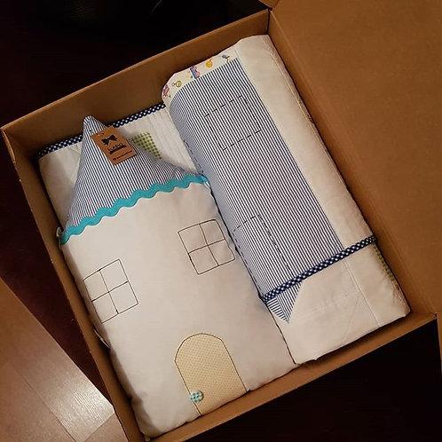 ev desen bebek battaniyesi ve dekor yastık