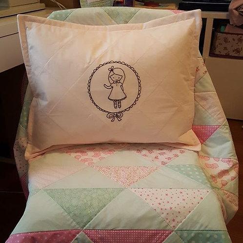 üçgen patchwork bebek battaniyesi