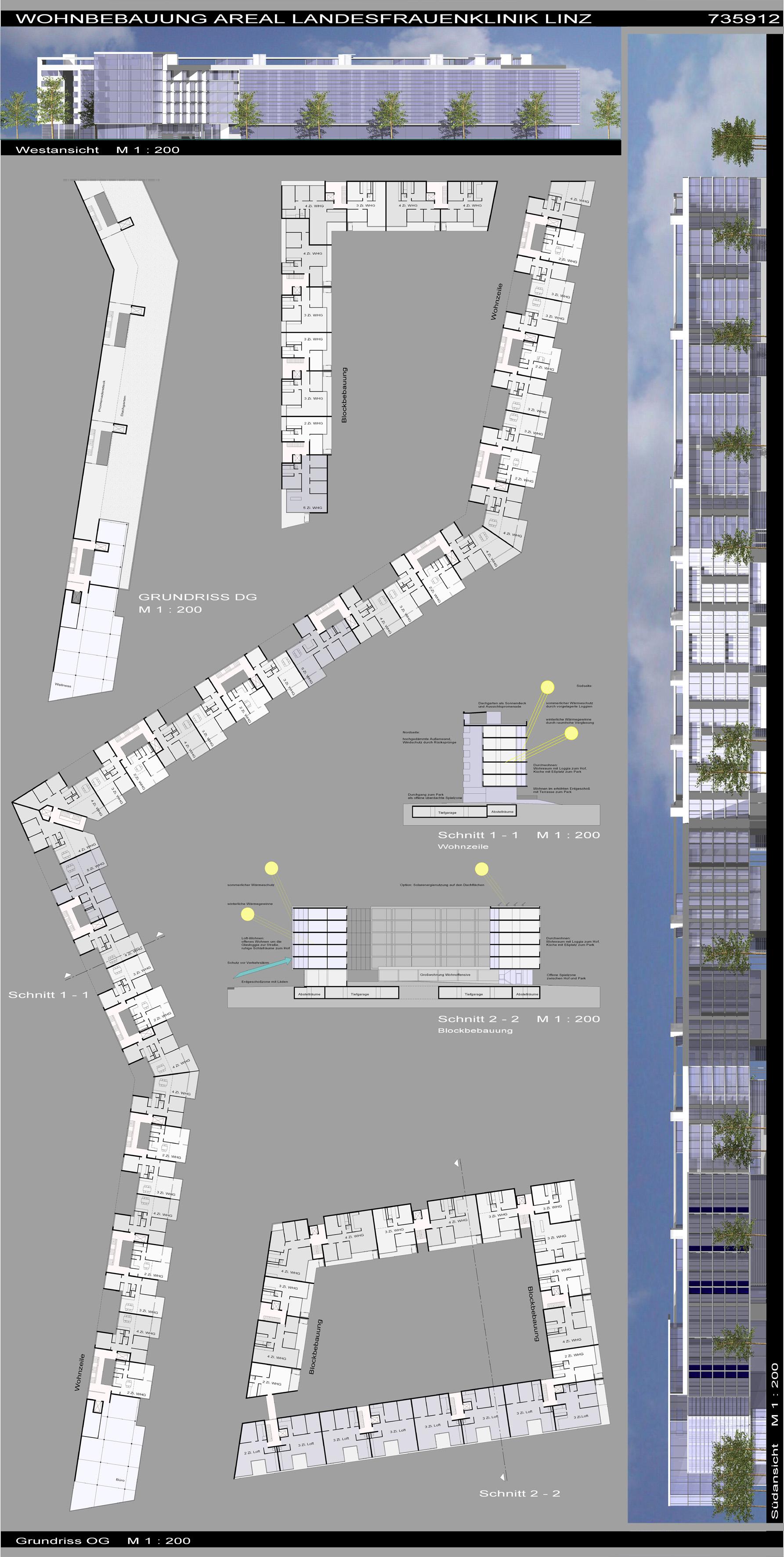 Linz, Städtisches Wohnen auf dem Klinik-Areal