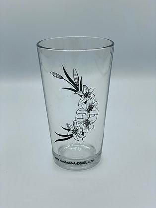 Lily Pint Glass