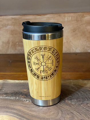 Viking Compass Bamboo Mug