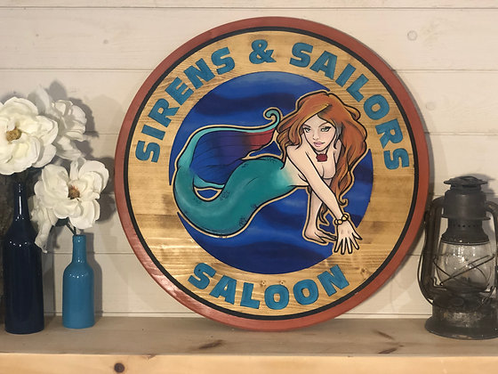 Siren and Sailors Wall Art