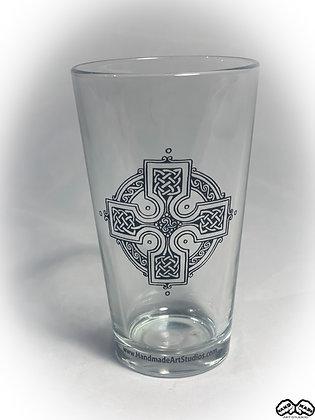 Celtic Cross Pint Glass