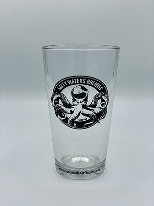 Salty Waters Brewing Pint Glass
