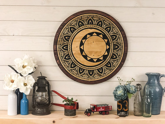 Sun & Moon Mandala - Wall Art