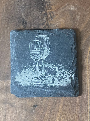 Wine and Cheese Coaster Set