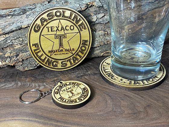 Texaco Coaster & Keychains