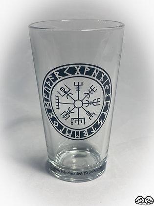 "Viking Compass ""Runes""  Pint Glass"