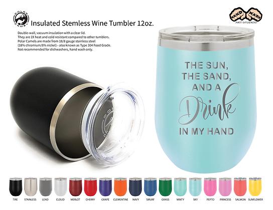 The Sun and Sand - Wine Tumbler