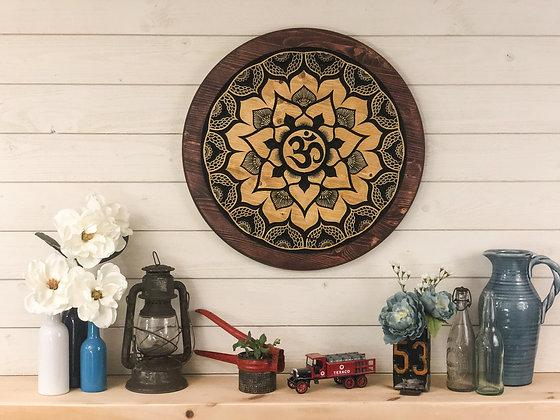 Lotus Om Mandala - Wall Art