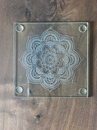 Flower Mandala Coaster Set