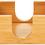 "Thumbnail: 4"" x 4"" Bamboo Square 4-Coaster Set with Holder"
