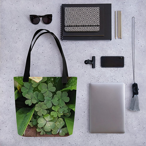 3 clover green bag