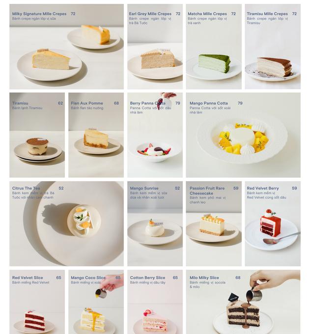 Cake menu.