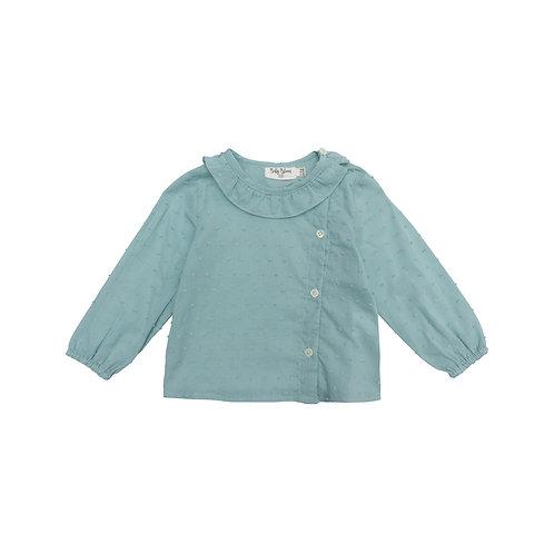 Camisa Mia plumeti aqua