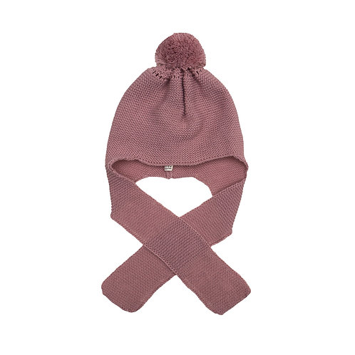 Gorro aviador color rosa viejo