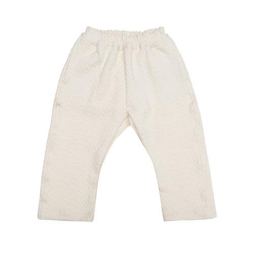 Pantalón cereza espigas crudo