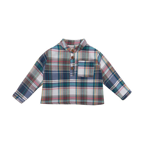 Camisa Bon Cuadros verdes