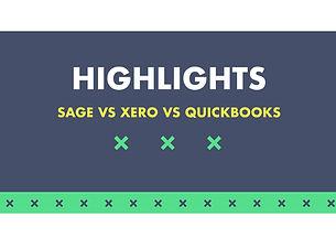 Sage vs Xero vs Quickbooks Highlights