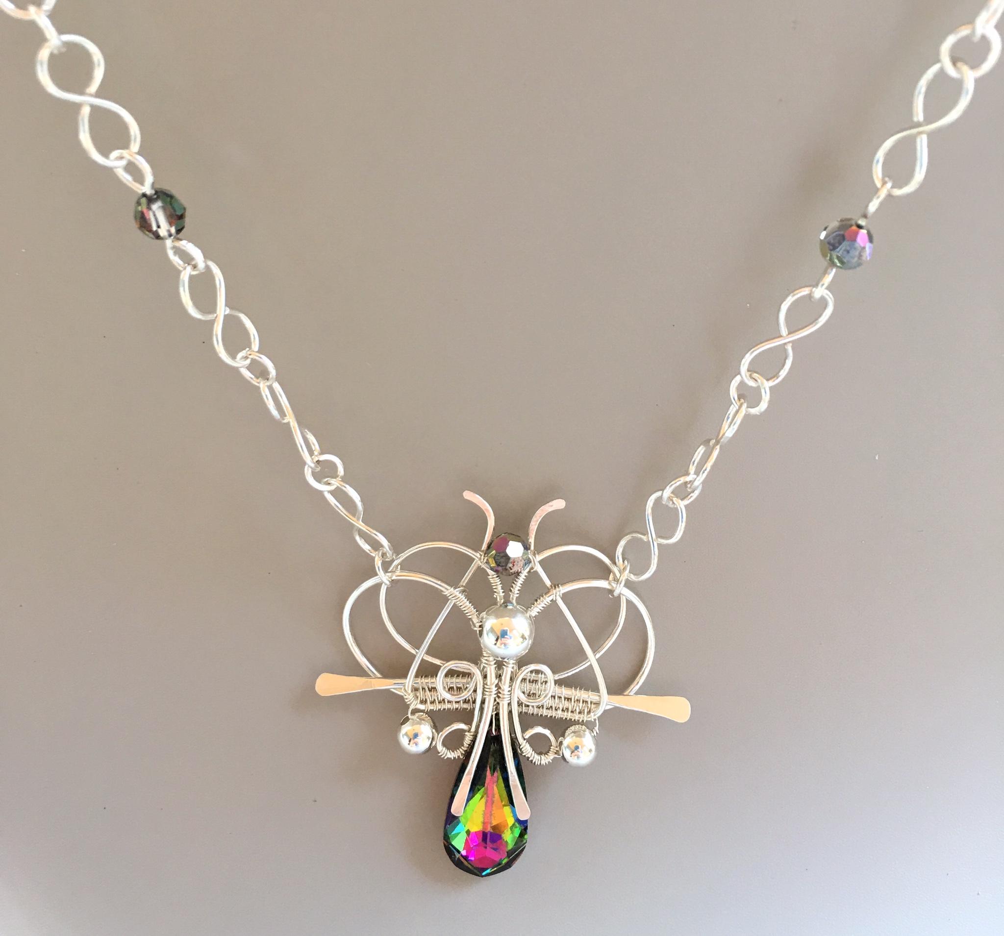 Crystal Moth: Silver & Crystal