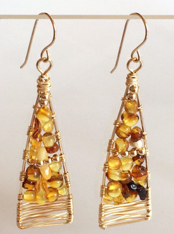 Woven History: Amber and 14k Gold