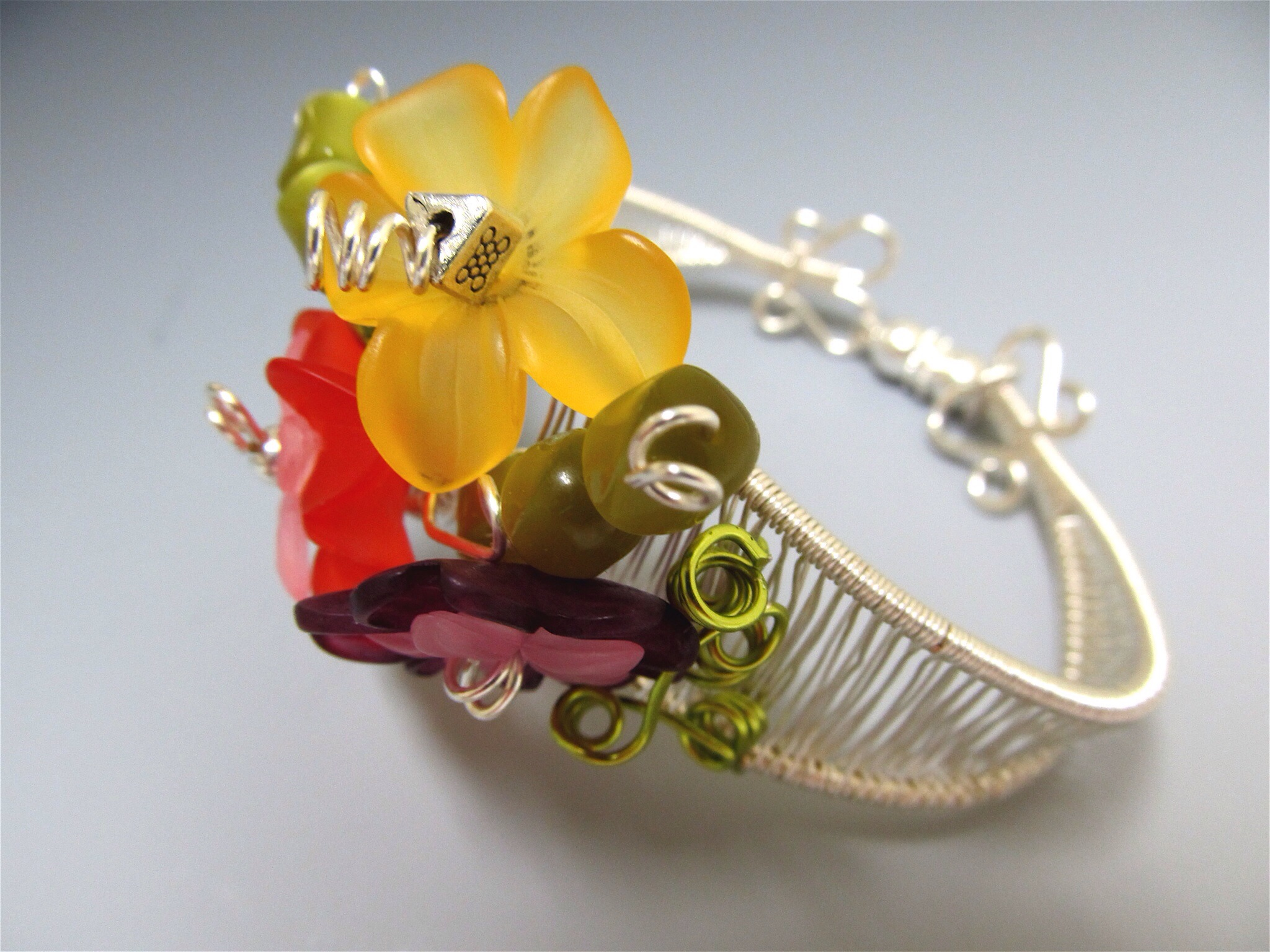 In Bloom: Acrylic & Sterling Silver