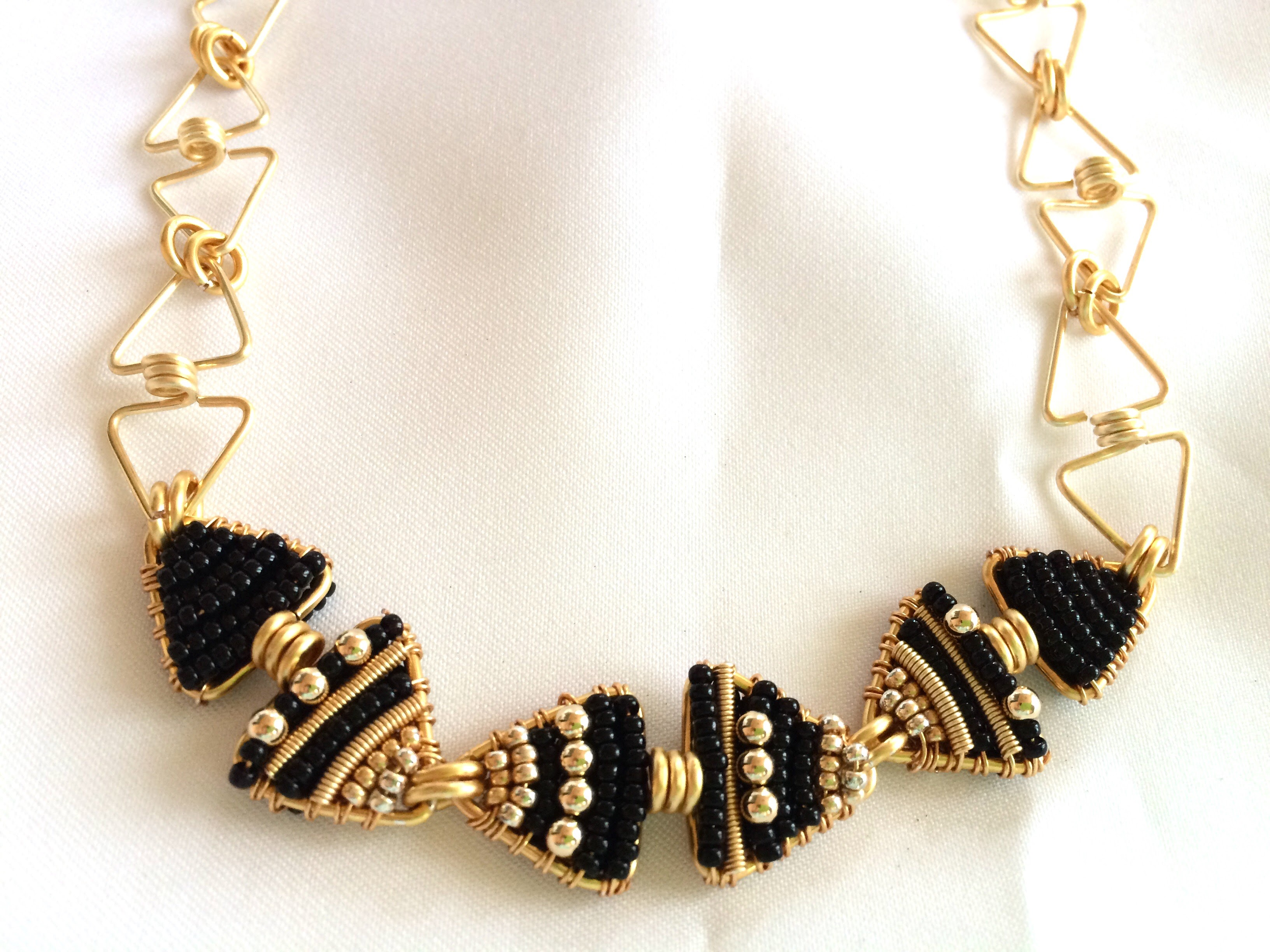 Black Tie: 14k Gold & Glass Beads