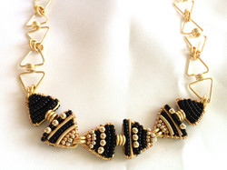 Black Tie: 14k Gold & Glass Beads