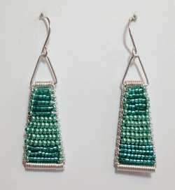 Teal Ombre: Sterling Silver
