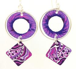 Purple Zen: Hand Drawn Acrylic