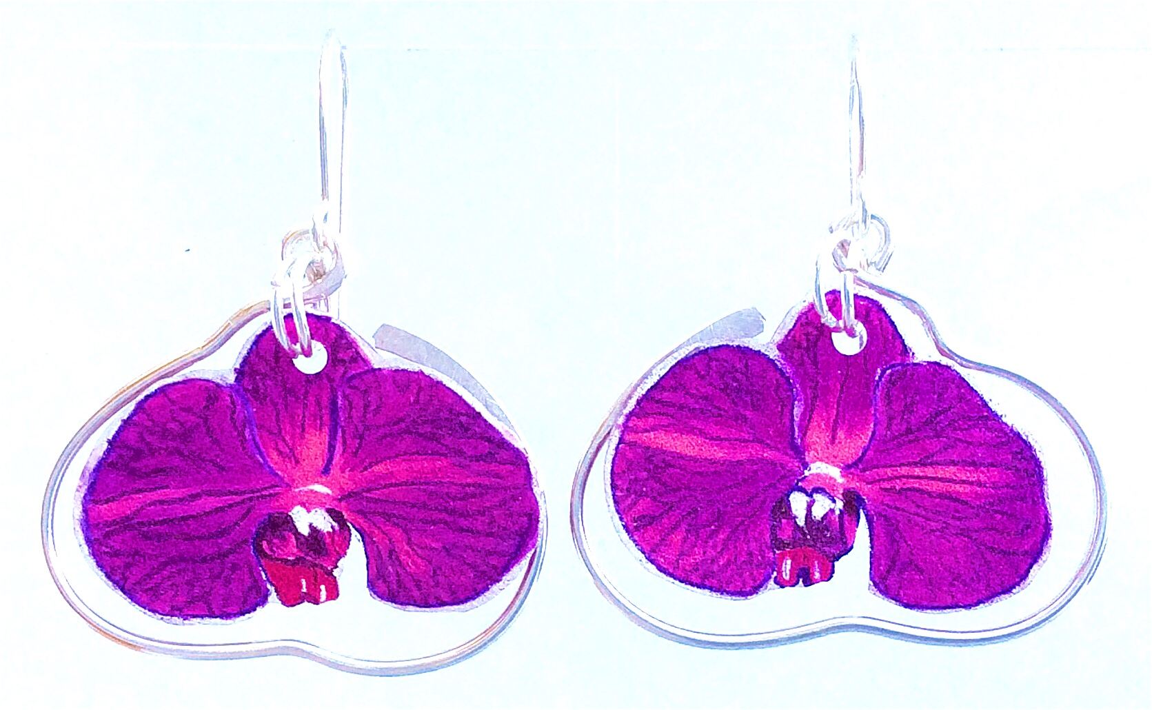 Plum Orchid: Hand Drawn Acrylic