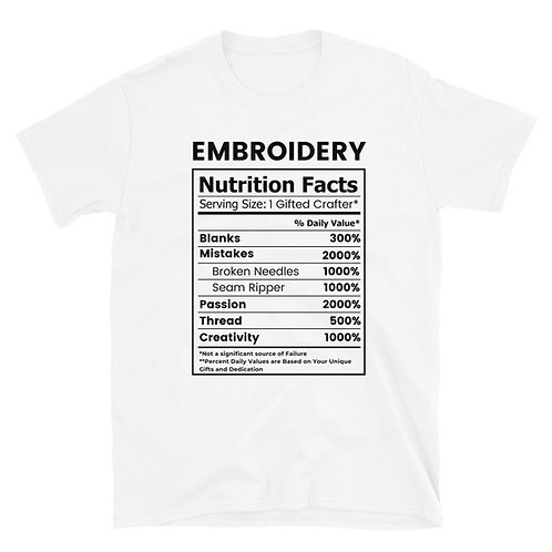 Embroidery Nutrition TEE