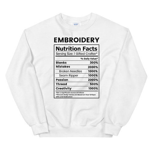 Embroidery Facts Sweatshirt