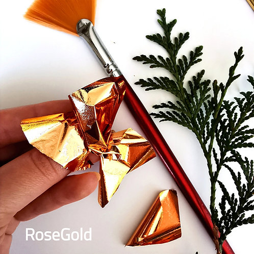 "Зеркальная поталь ""Mirror Shine"", Rose gold, 50шт. 8*8.5см"