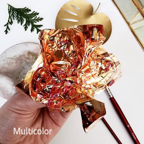 Поталь-фольга с разводами Multicolor, 10шт., 14х14см