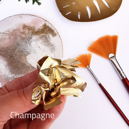 "Зеркальная поталь ""Mirror Shine"", Champagne, 100 шт. 8*8.5см"