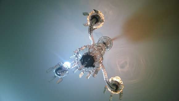 Lustre Cristal 3 lâmpadas