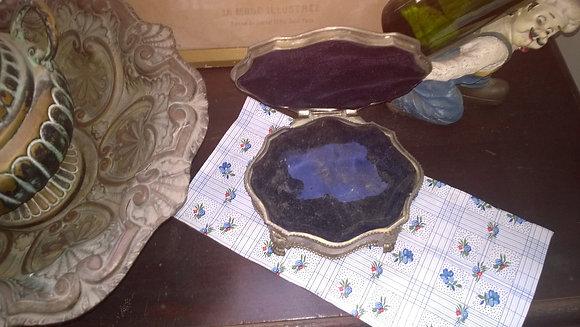 Porta jóias em Prata e Camurça