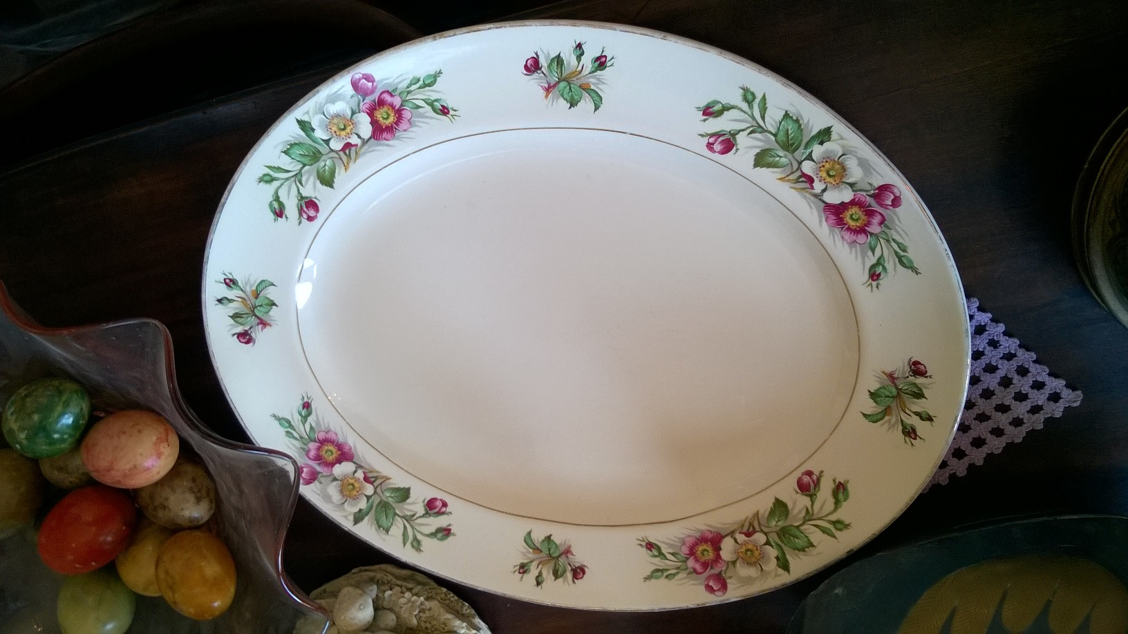 Prato Oval, Porcelana Inglesa