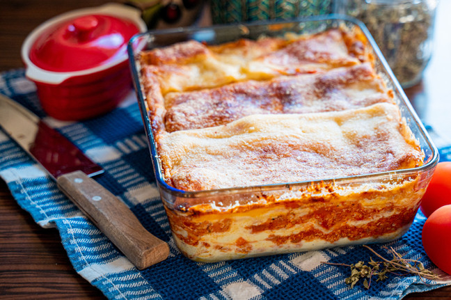 Tasty Homemade Lasagne with Meat and Par