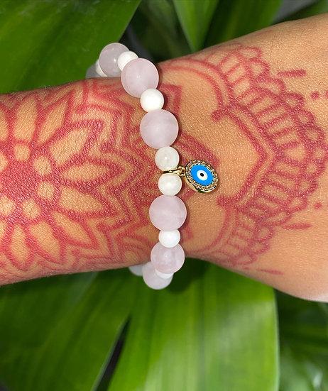 Moonstone & Rose quartz Bracelet