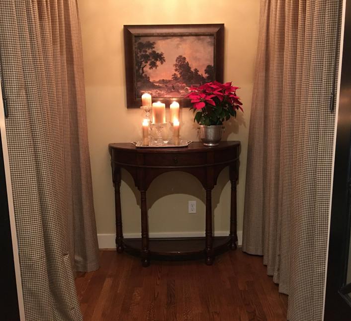 Vestibule with Poinsettias