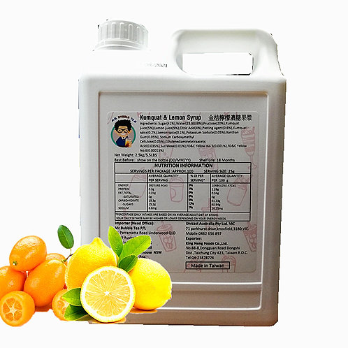 TC Kumquat Lemon Flavor Concentrated Syrup (2.5kg or 2.1L)