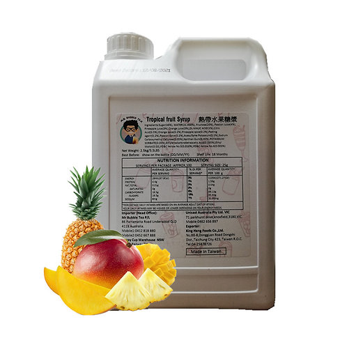 Tropical Fruit Syrup with Pulp (2.5kg or 2.1L)
